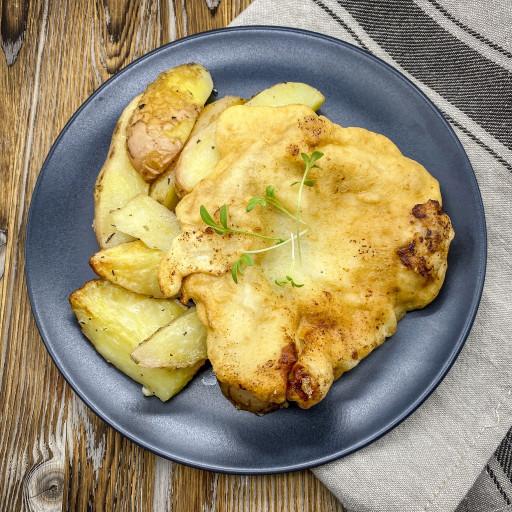 Мясо Бризоль и картофельные дольки
