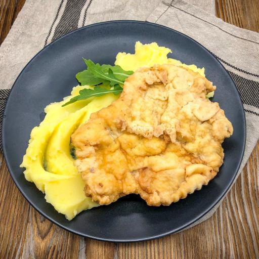 Мясо Бризоль и картофельное пюре