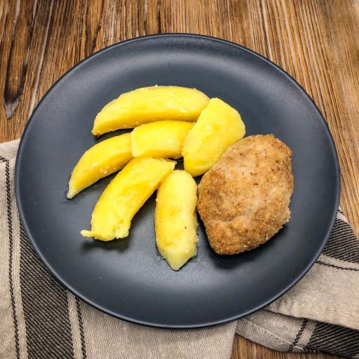 Котлета Аппетитная и картофельные дольки