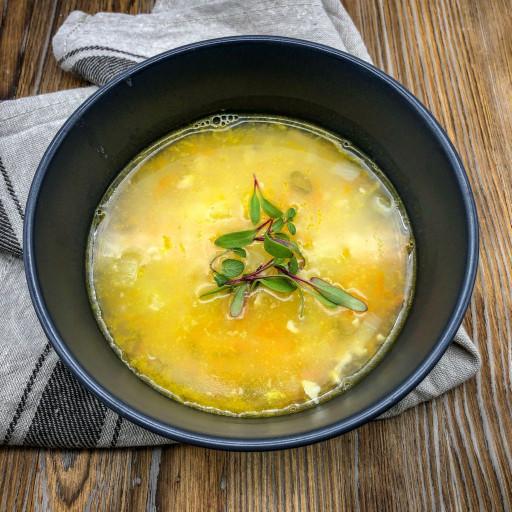 Суп рисовый с птицей