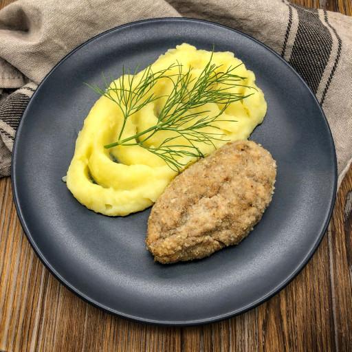 Шницель свиной по-домашнему и картофельное пюре