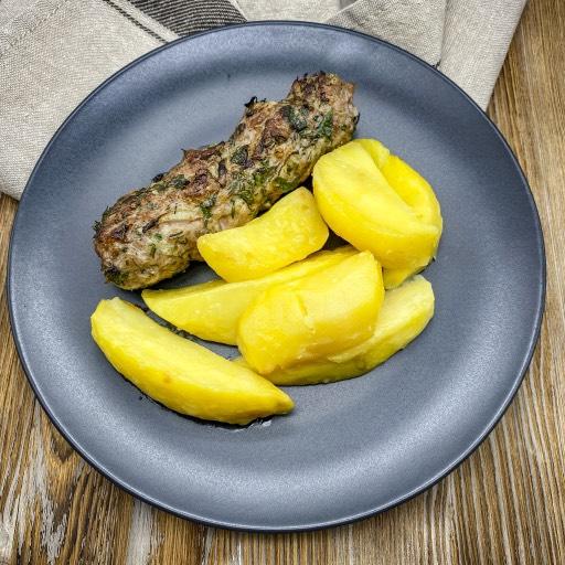 Люля из свинины и картофельные дольки
