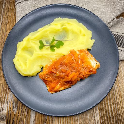 Рыба под маринадом  и картофельное пюре